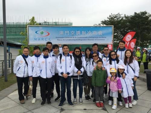 2018年12月9日澳門空調制冷商會贊助本會青年委員出參與百萬行